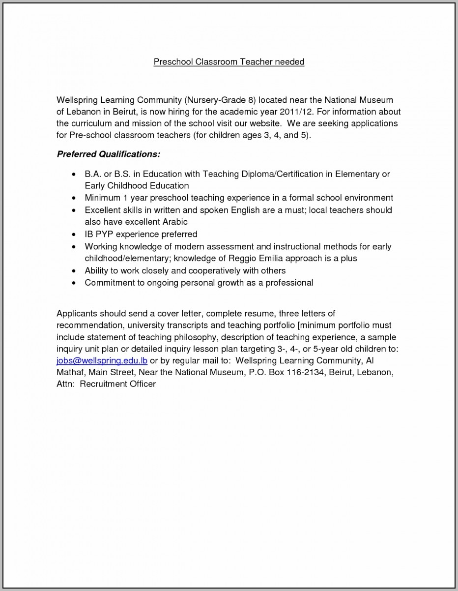 24 Cover Letter Template For Sample Reference Letter For Child Inside Sample Reference Letter For Child Care Worker