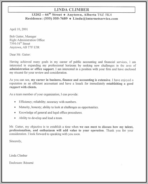 Cover Letter Template For Resume Word