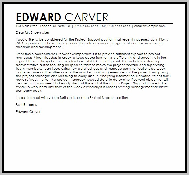 Cover Letter Template Help