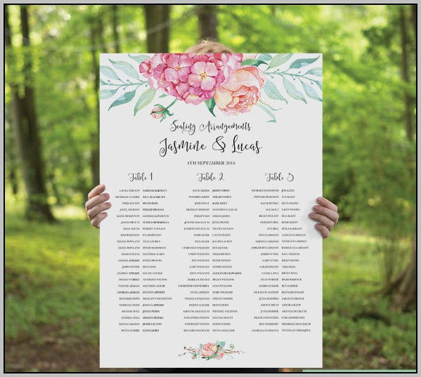 Easy Wedding Seating Chart Template