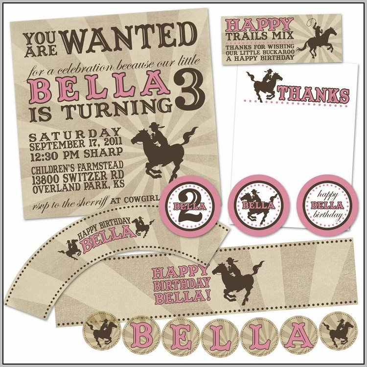 Free Birthday Invitation Templates Horses