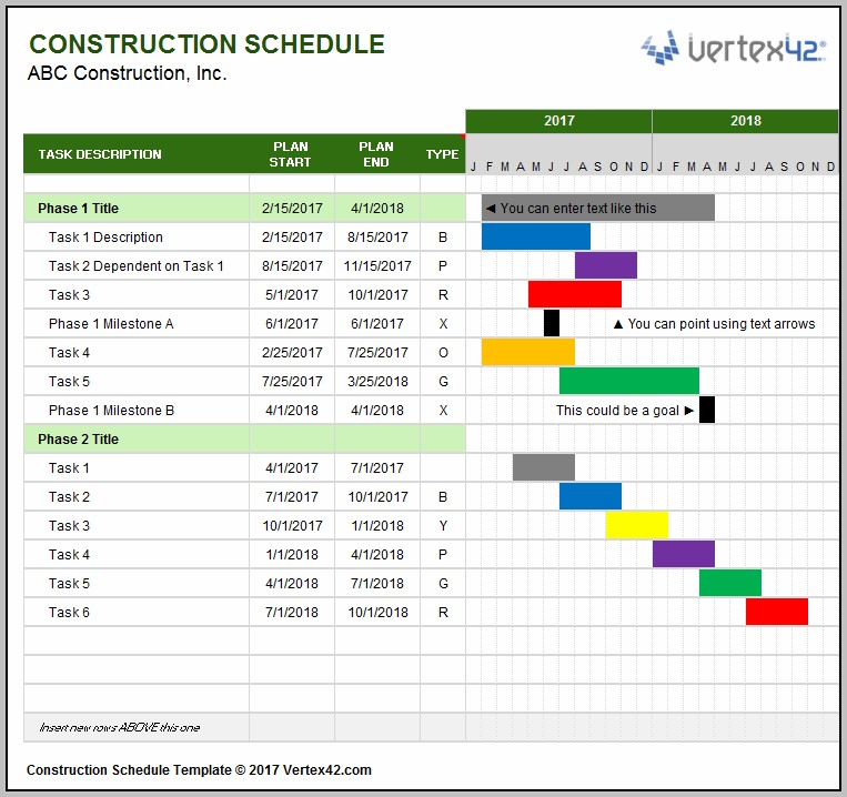 Free Gantt Chart Excel 2007 Template Download