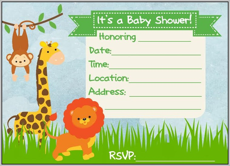 Free Jungle Birthday Invitation Templates