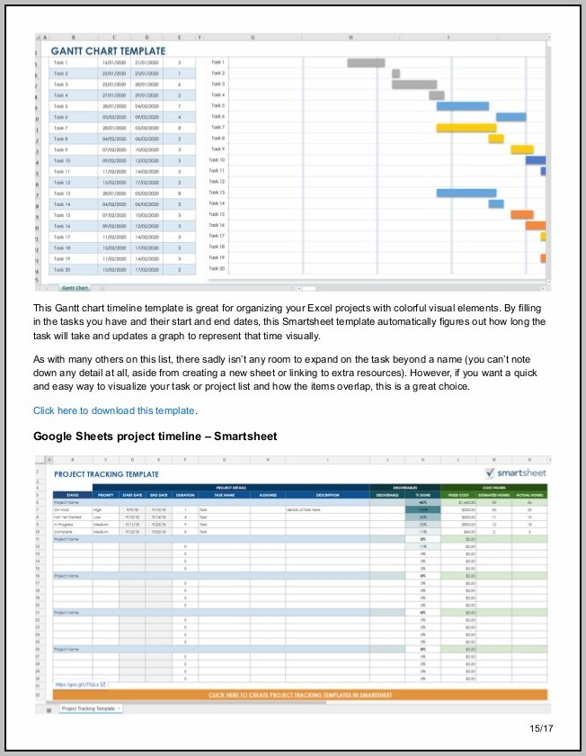 Gantt Chart Template Download