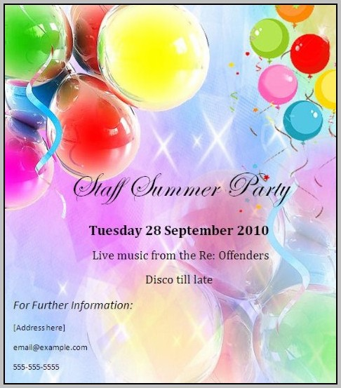 Goodbye Party Invitation Template