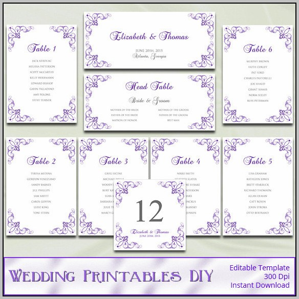 Google Wedding Seating Chart Template