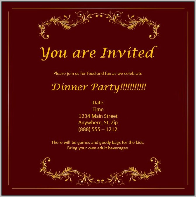 Party Invitation Template Download