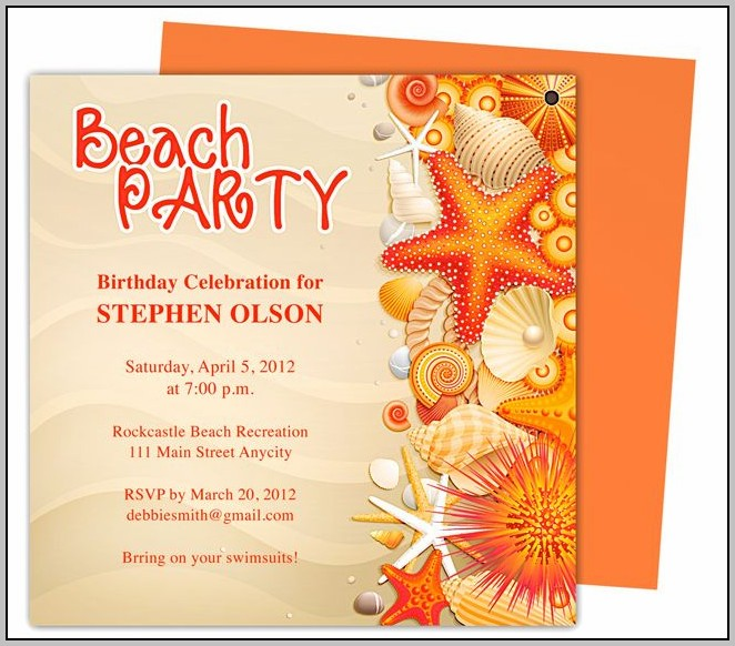 Party Invitation Template For Pages