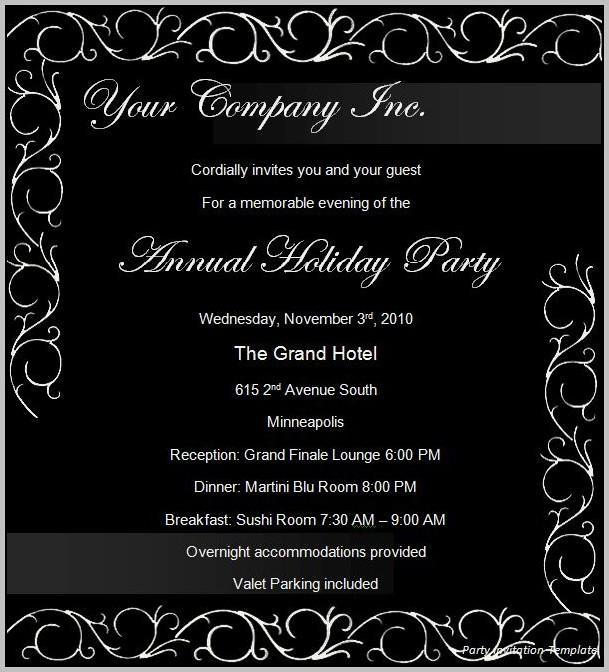 Party Invitation Template For Powerpoint
