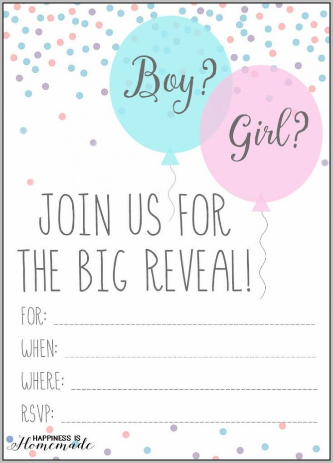 Party Invitation Template Girl