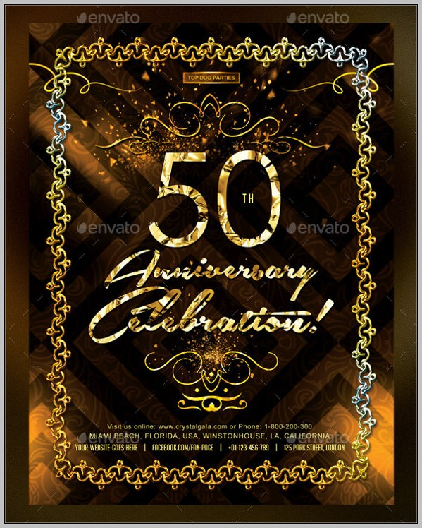 Party Invitation Templates 50th Birthday