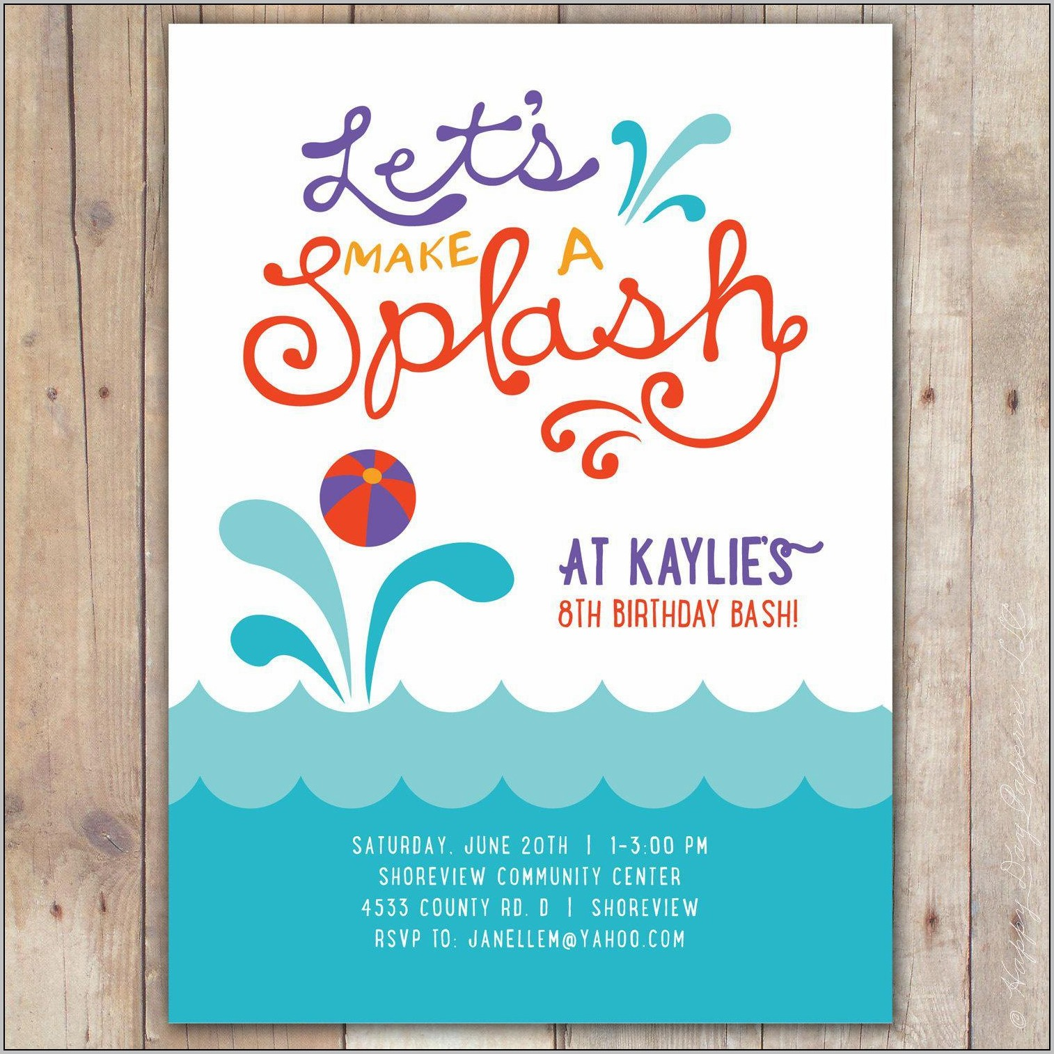 Party Invitation Templates Free Uk