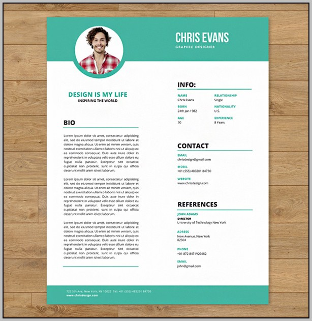 Psd Template Resume And Cover Letter