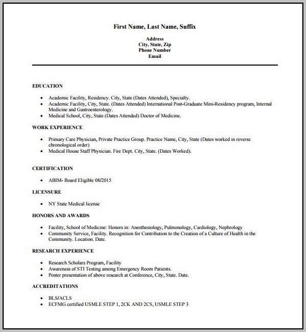 Resume Format Free Download Word