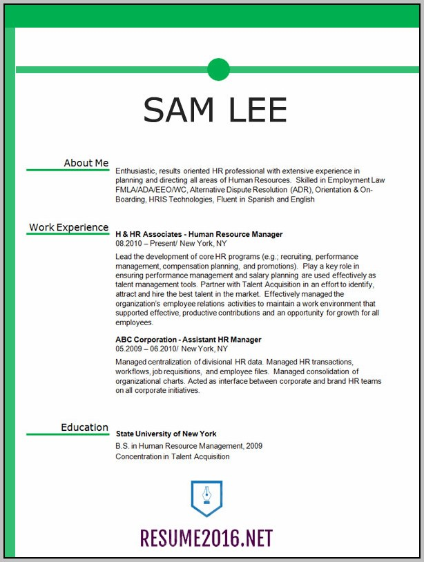 Resume Template Free Download 2016