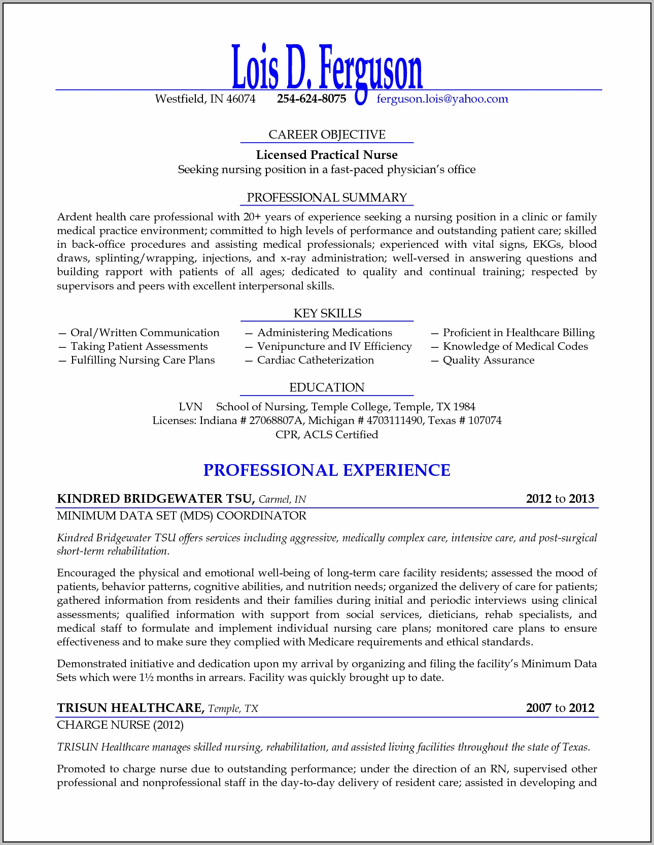 Resume Template Free Download Australia