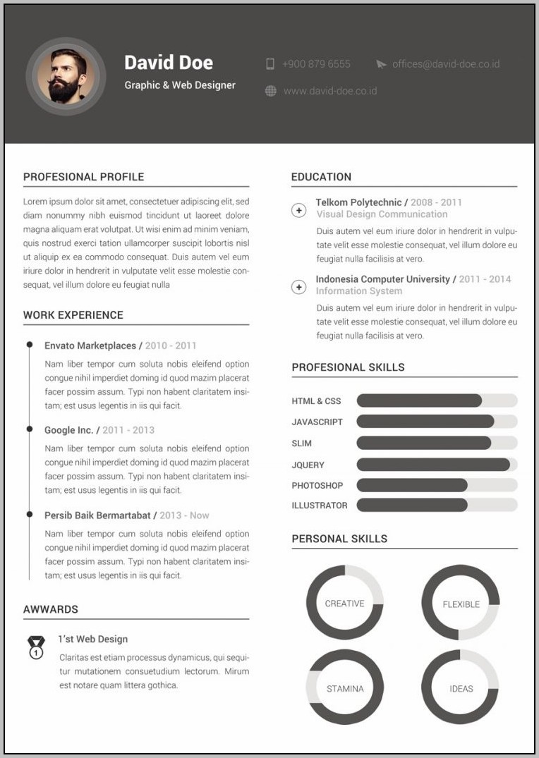 Resume Template Free Download Creative
