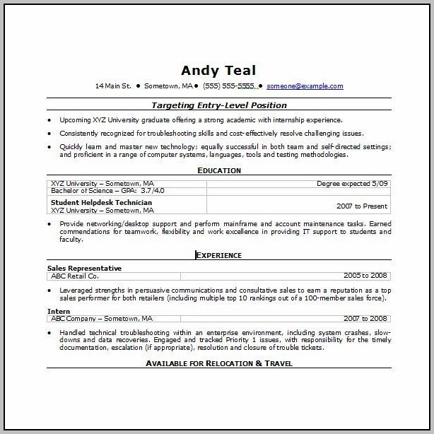 Resume Template Free Download Word 2003