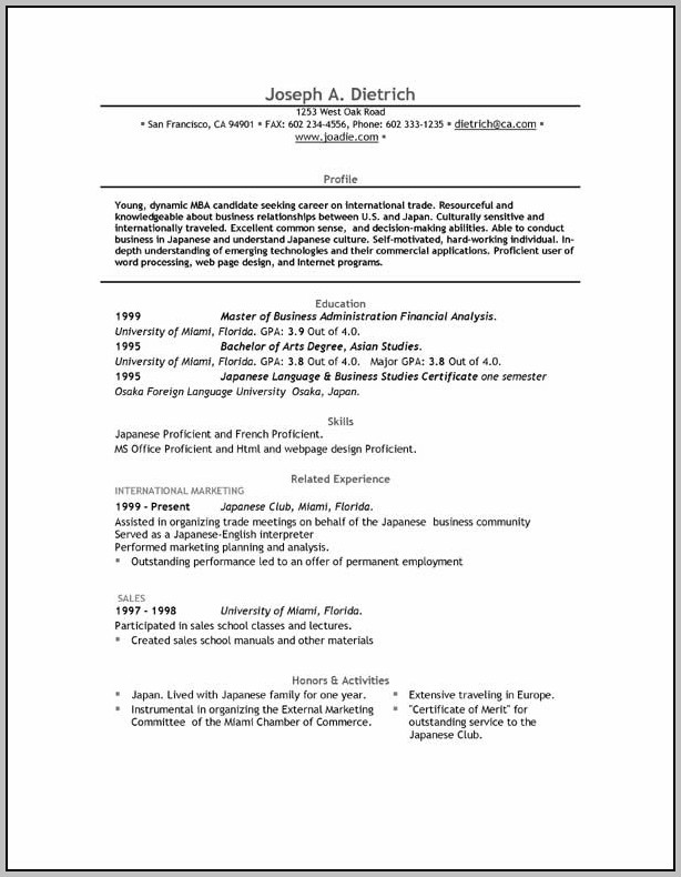 Resume Template Free Download Word