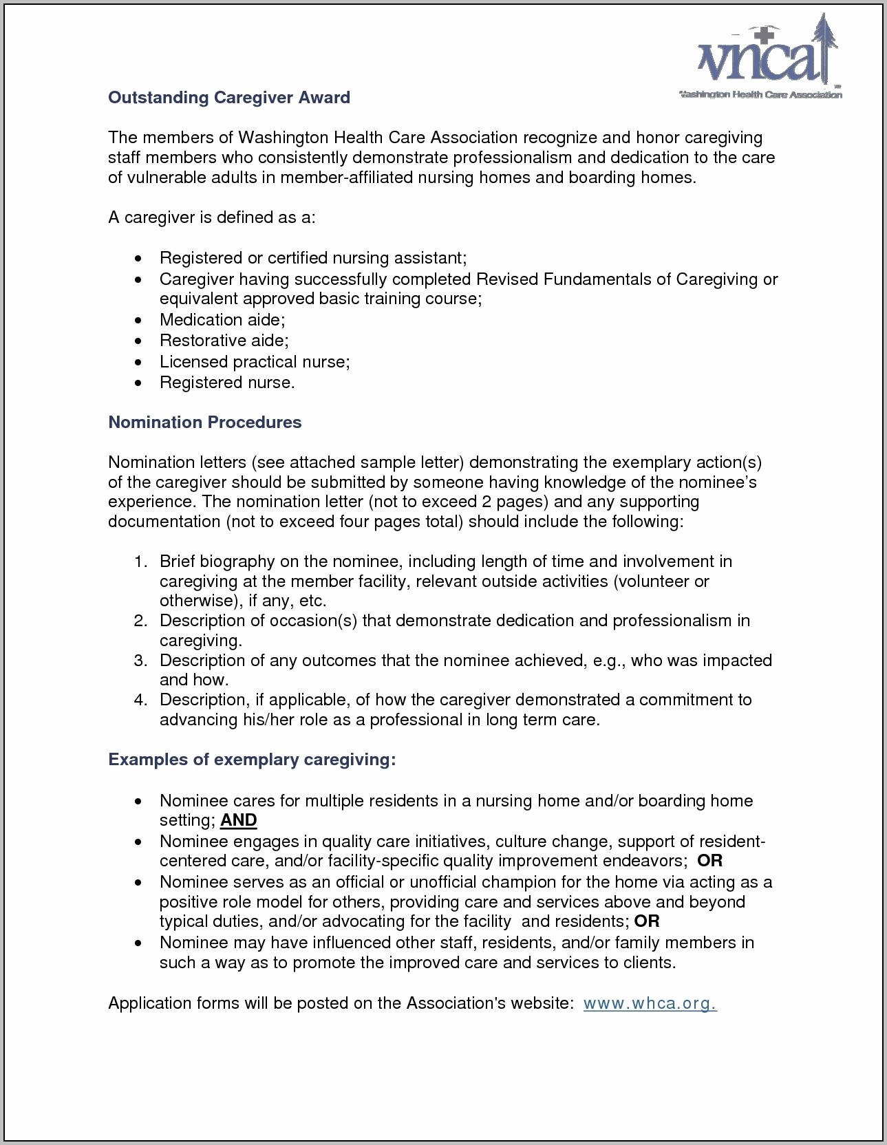 Sample Cover Letter For Caregiver Position