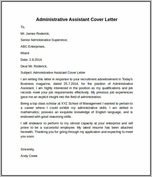 Sample Cover Letter For Financial Aid Position