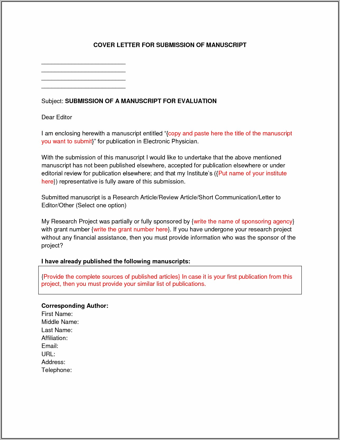 Sample Cover Letter For Resume Submission