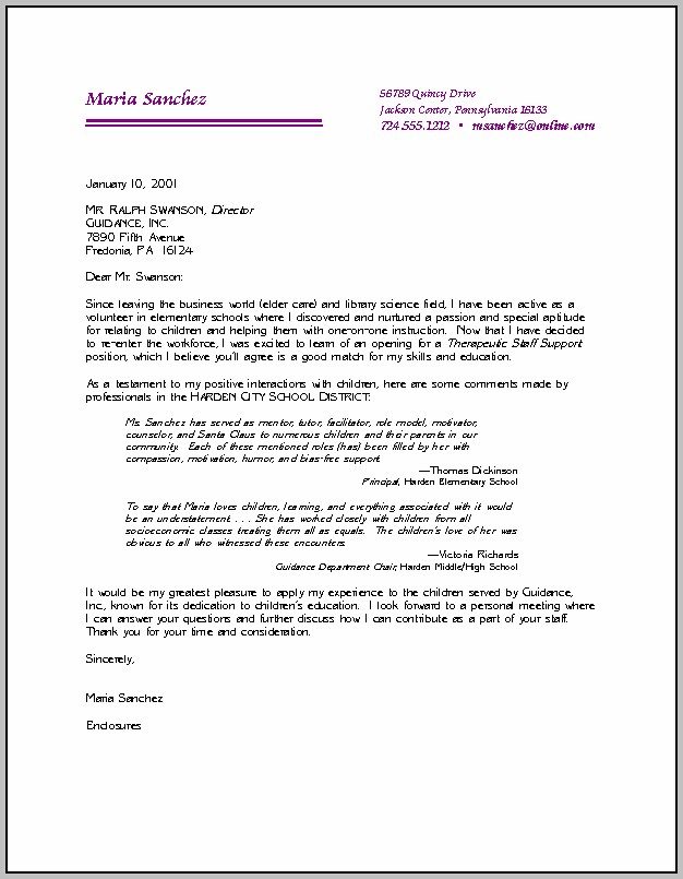 Sample Cover Letters For Resume Pdf
