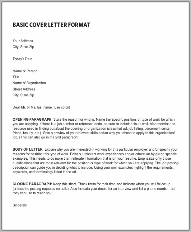 Sample Resume And Cover Letter Pdf