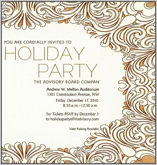 Template For Christmas Party Invitation In Office