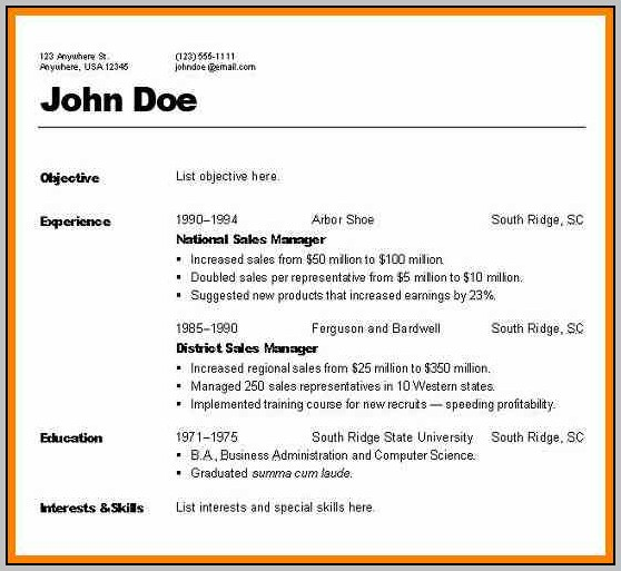 Types Of Resume With Sample