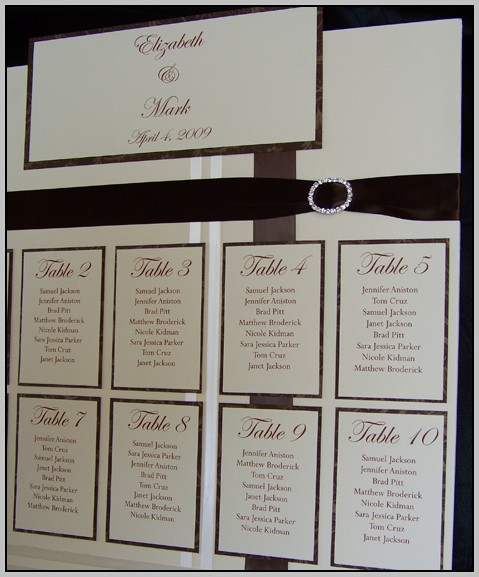 Wedding Assigned Seating Chart Template