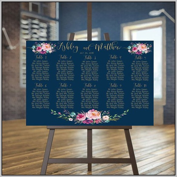 Wedding Guest List Seating Chart Template