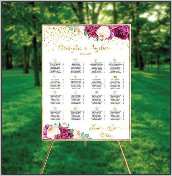 Wedding Seating Chart Alphabetical Order Template