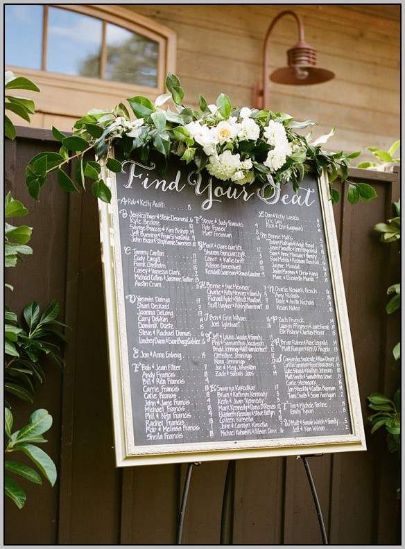 Wedding Seating Chart Template Online