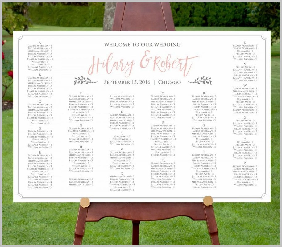 Wedding Seating Chart Template Staples