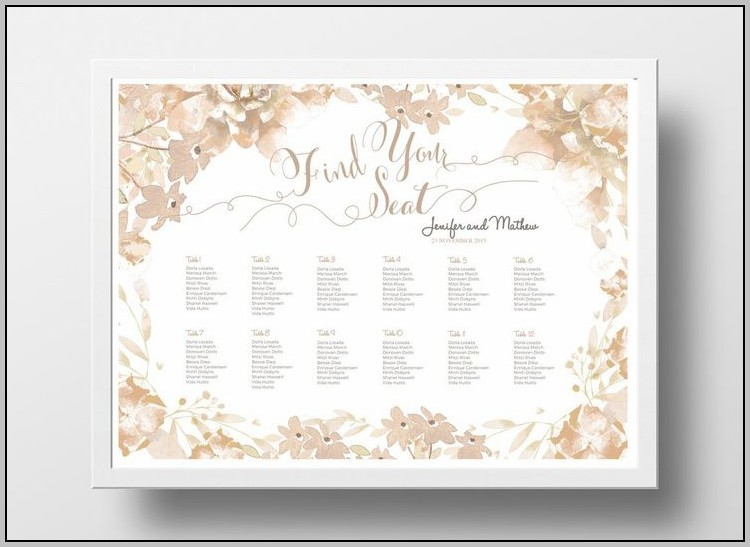 Wedding Seating Plan Template In Word