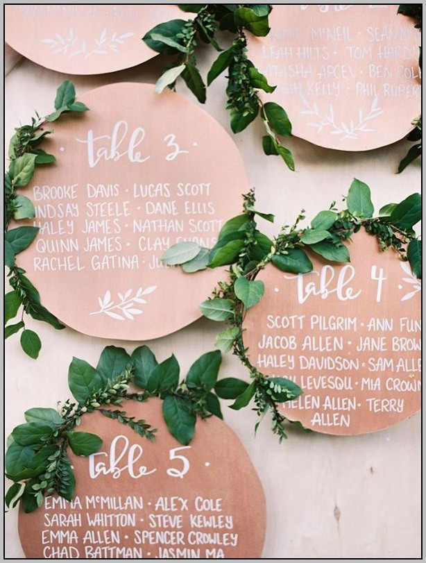 Wedding Seating Plan Template Round Tables