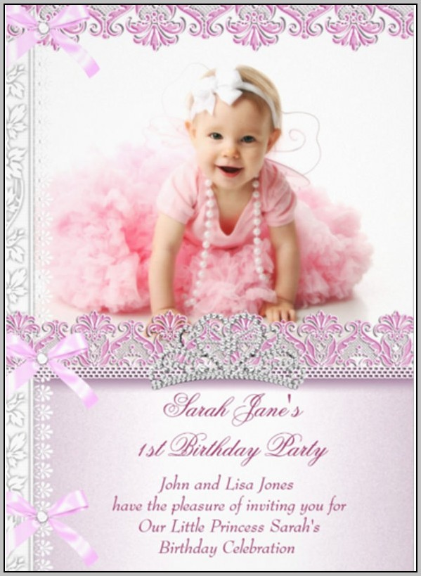 1st Birthday Party Invitation Template Free