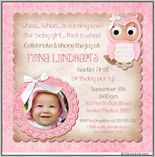 1st Birthday Party Invitation Wording Ideas