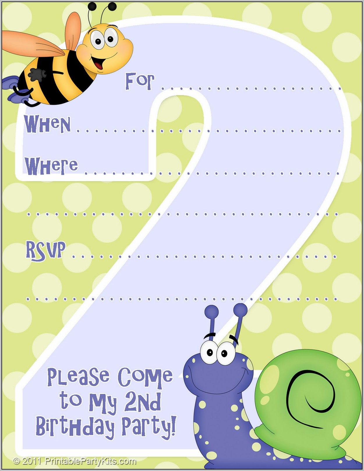 2nd Birthday Party Invitation Template