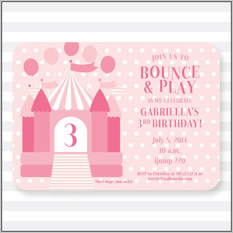 3 Year Old Birthday Party Invitation Template