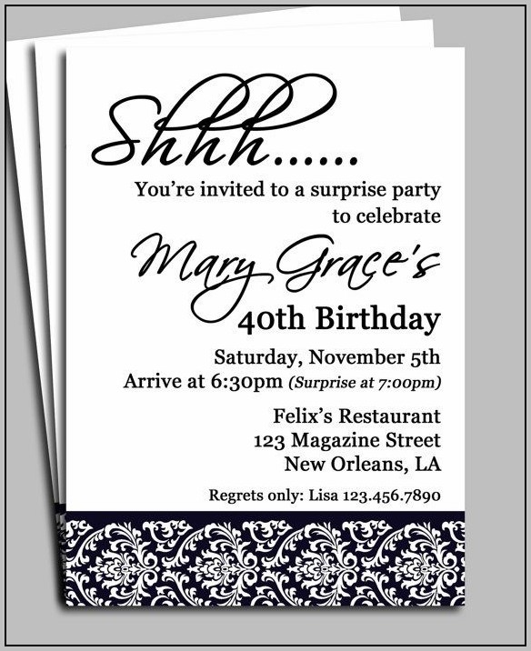 30th Birthday Party Invitation Template Free