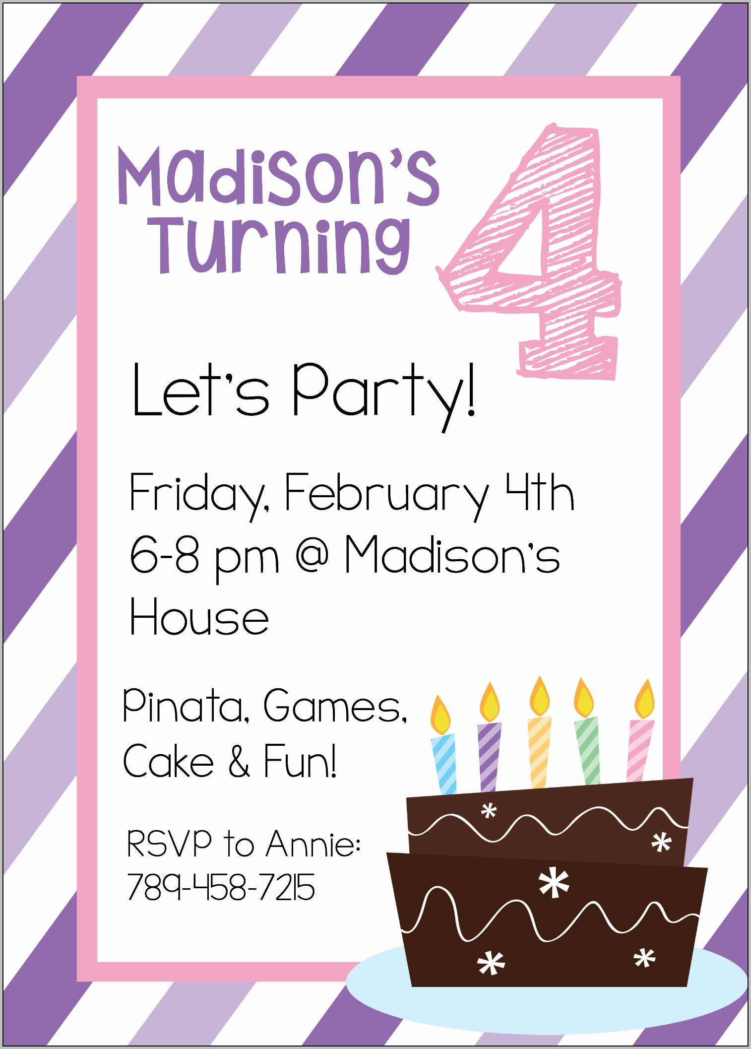 3rd Birthday Party Invitation Template