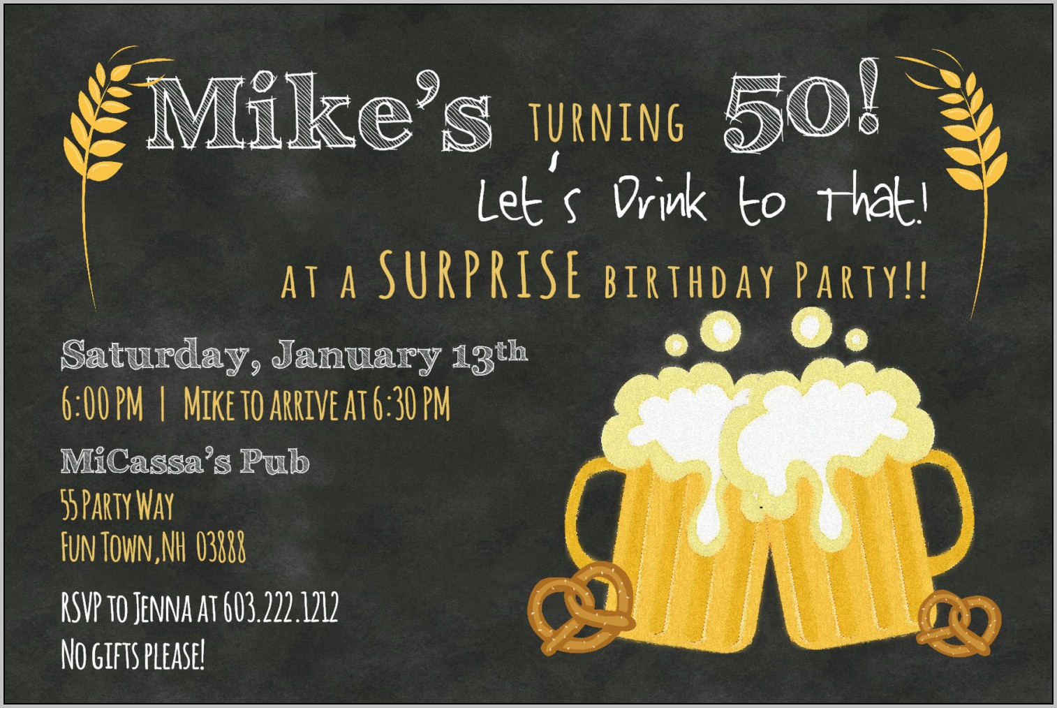 50 Birthday Party Invitation Templates