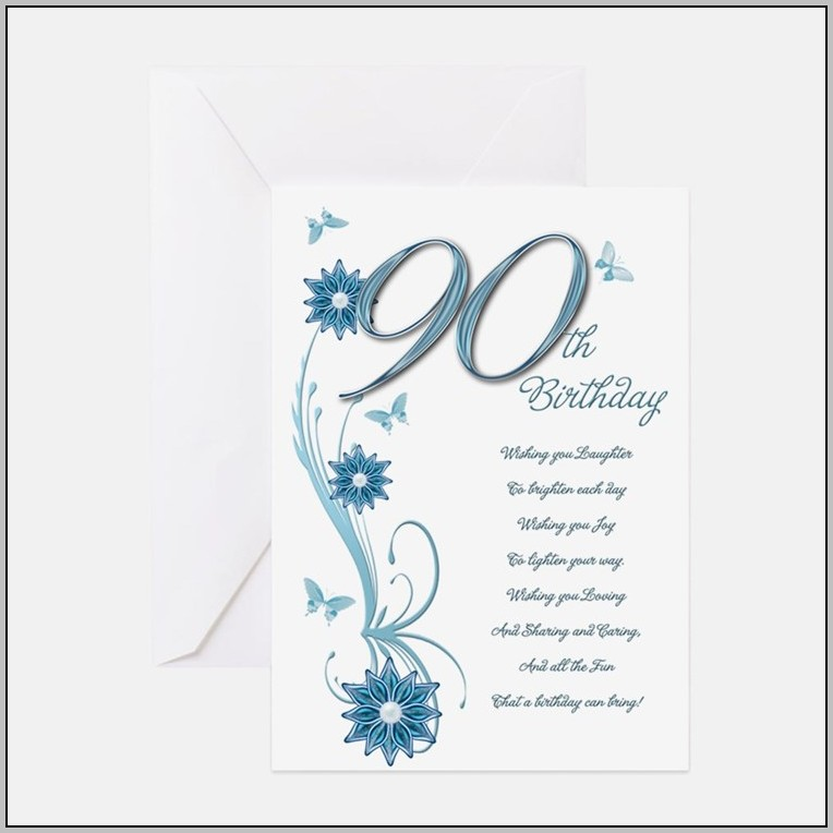 90th Birthday Party Invitation Greeting Cards