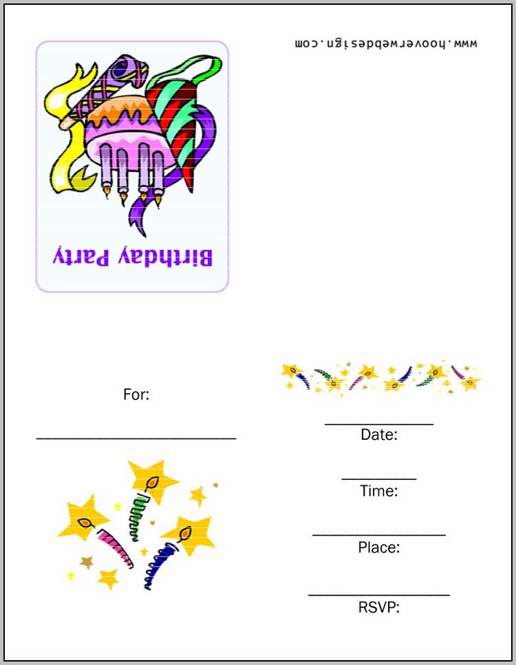 Birthday Party Invitation Card Designs