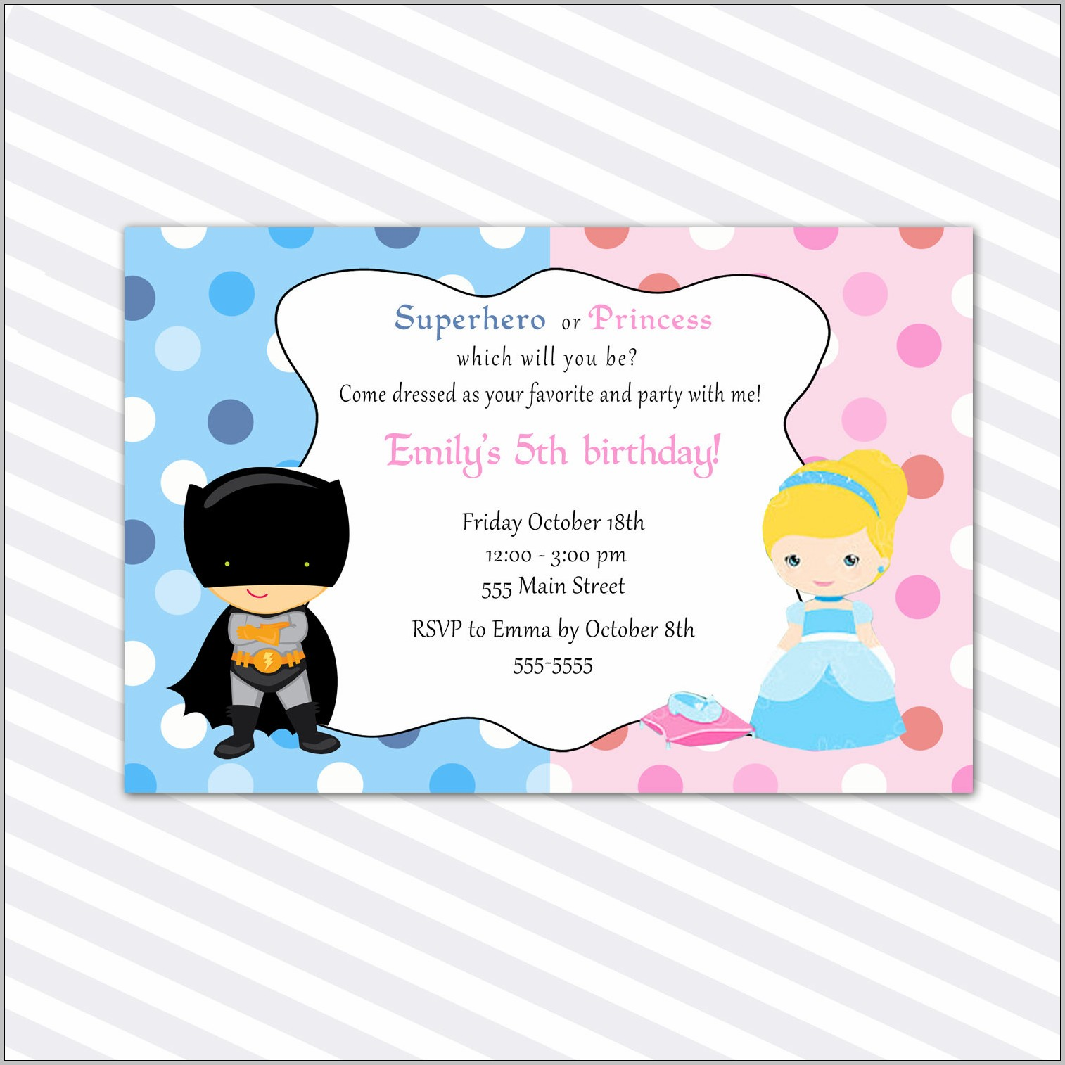 Birthday Party Invitation Cards Printable