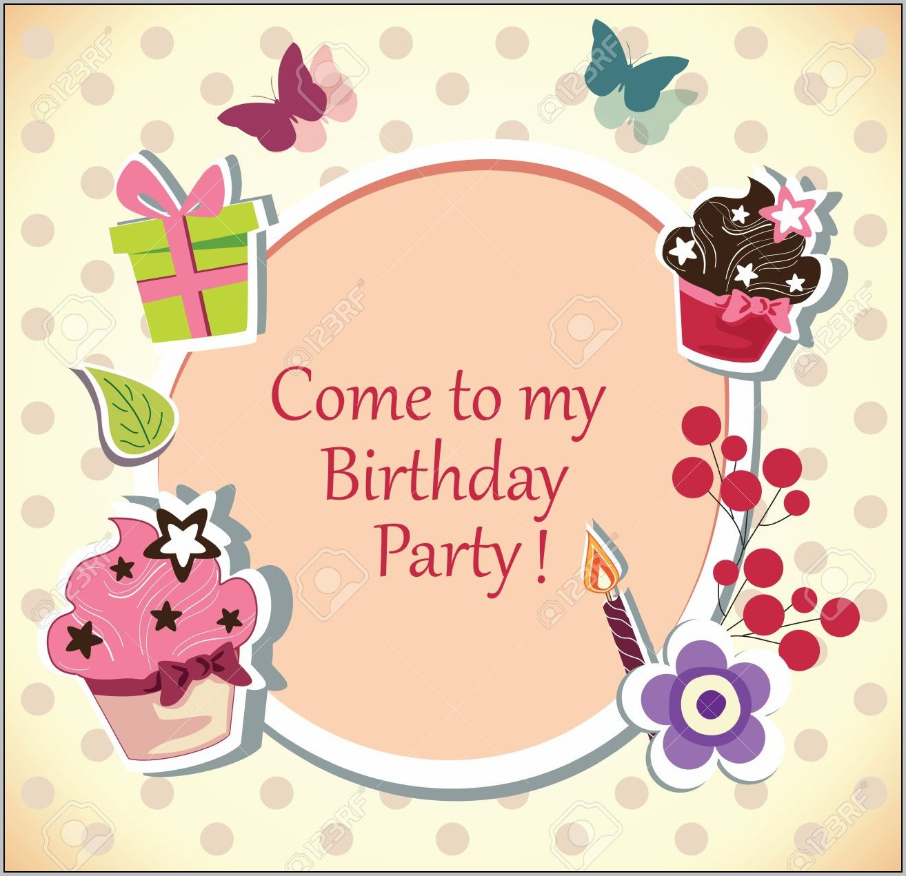 Birthday Party Invitation Cards Singapore