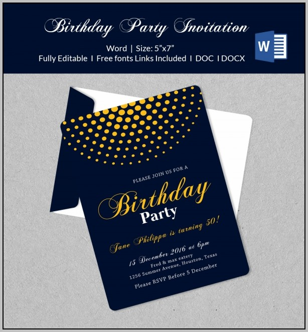 Birthday Party Invitation In Office Templates