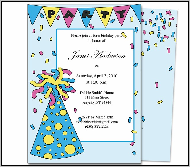Birthday Party Invitation Maker Online